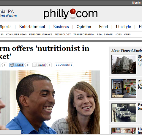 The Philadelphia Inquirer recently featured our nutrition and weight loss business in the Sunday paper.