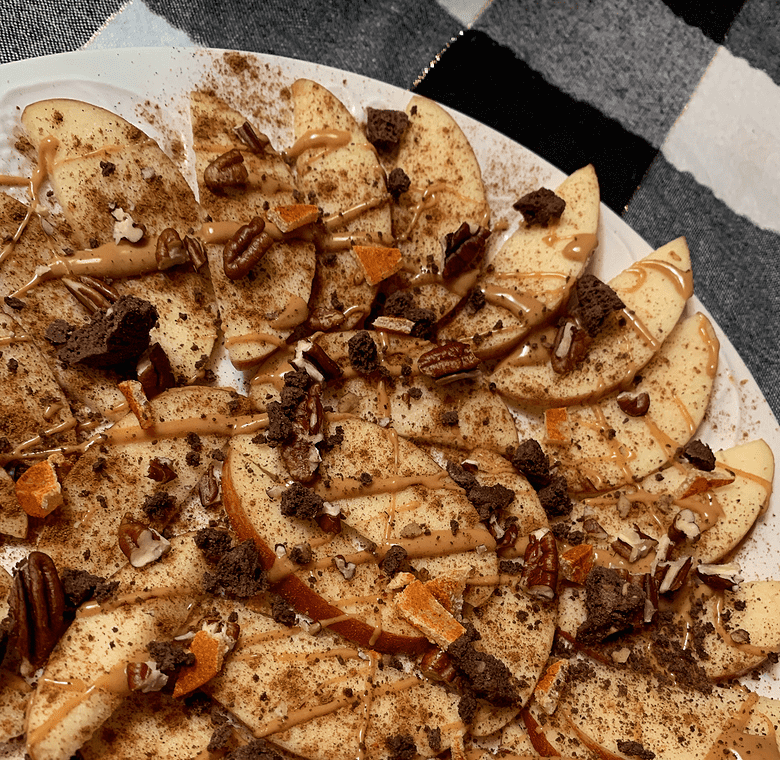 Apple Nachos are a great twist to make this snack perfect for vegans