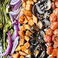 Vegan Rainbow Roasted Vegetables