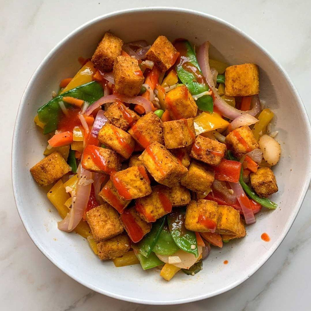 Tofu, Tempeh, Seitan, and Lentils all provide substantial amounts of protein to help power your vegan and vegetarian diets.