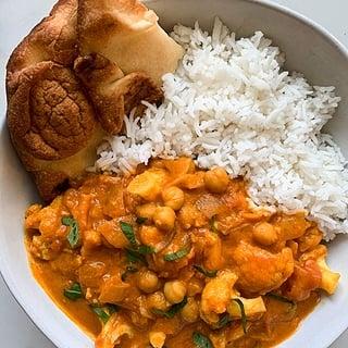 Cauliflower Chickpea Tikka Masala