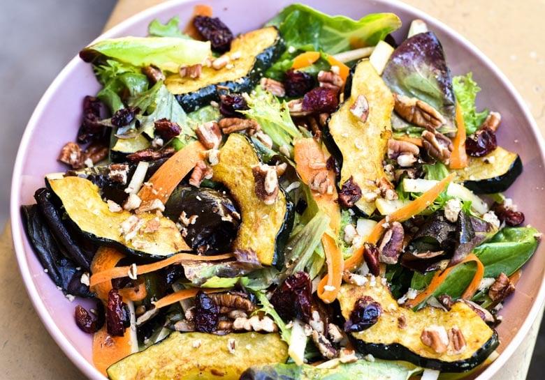 winter salad in bowl