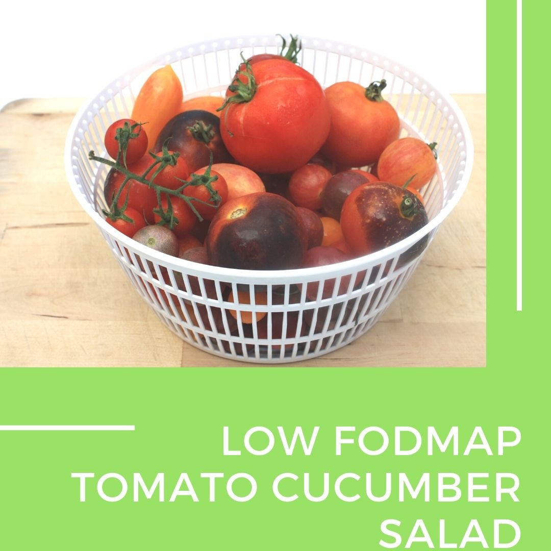 Low fodmap tomato cucumber salad