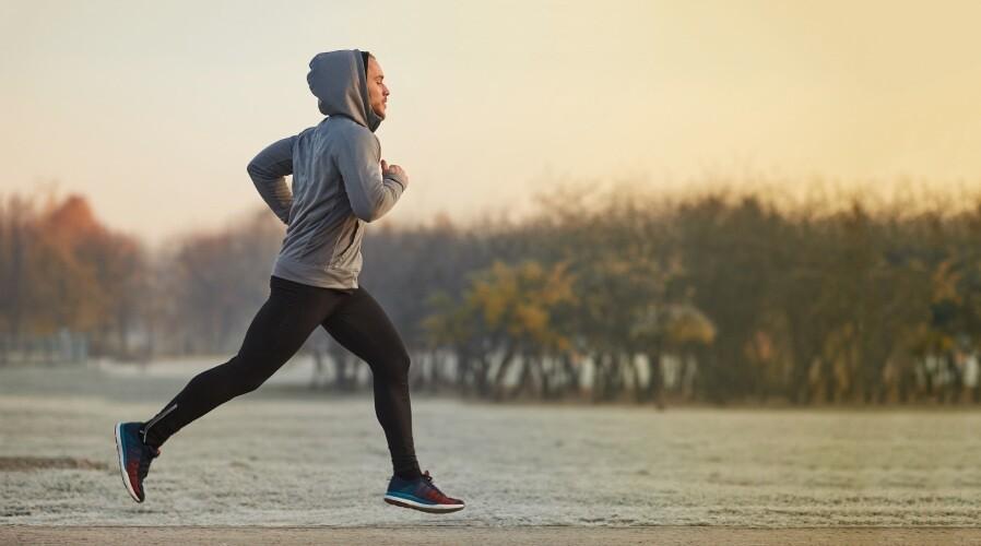 male jogging